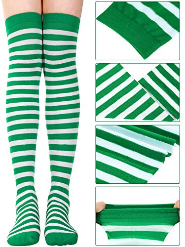 Shamrock Stripe Thigh High Stocking