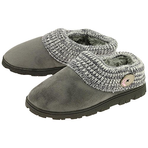 GreaterGood Pink Ribbon Comfy Clog Slippers Gray sgxazCw
