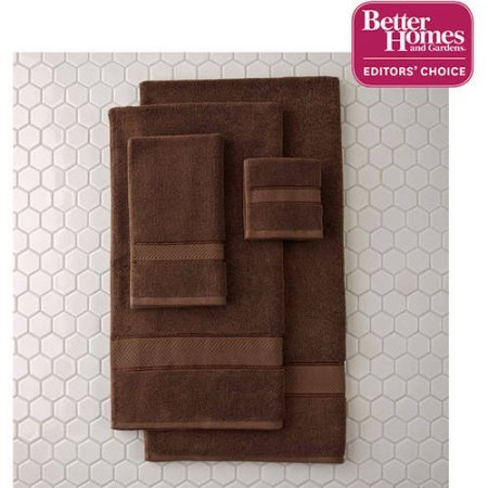 Better Homes and Gardens Thick and Plush Bath Towel Collection - 6 Piece Bath Towel, Costa Brown