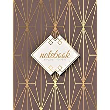 Graph Paper Notebook: 1/4 inch squares | Arabic Geometric Gold Soft Cover | Large (8.5 x 11 inches) Letter Size | 120 Square Grid Pages | Blank Quad Ruled Glam Notes