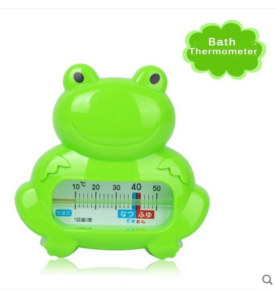 Reizbaby Baby Bath Thermometer Child Shower Thermometer Bath Toy Plastic Tub Water Sensor (green)