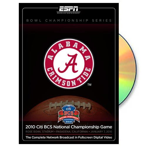 Football Champions Bcs - NCAA Alabama Crimson Tide 2009 BCS National Champions Official Game Broadcast DVD ()