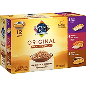 Nature's Recipe Original Variety Pack, Wet Dog Food, 2.75-Ounce (Pack of 24)