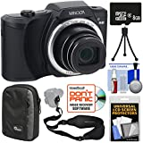 Minolta MN22Z 1080p 22x Zoom Wi-Fi Digital Camera (Black) with 8GB Card + Case + Mini Tripod + Kit