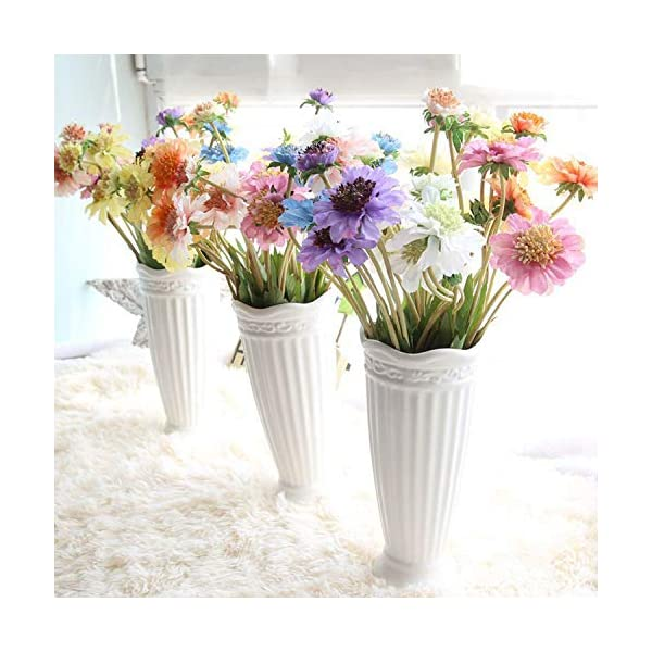 10PCS Artificial Flower Simulation Orchid Daisy Gerbera Flowers for Wedding Bridal Bouquets Home Party Event Table Decorative,2