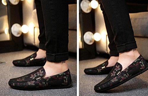 los Red conducción planos Zapatos Zapatos zapatos hombres que Zapatos nocturno los de de británicos de Zapatos del caminan club HYLM florales 5tqawRc