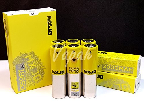 (6 Pack) MXJO IMR 18650 3000mAh 35A 3.7V High Drain Flat Top Rechargeable Battery