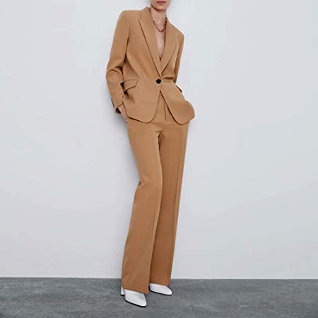 LUDAGED Trajes de pantalón para Mujer Chaquetas de Trabajo de ...