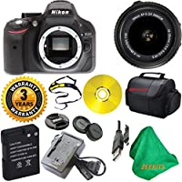 Nikon D5200 24.1 MP CMOS Digital SLR with 18-55mm f/3.5-5.6 AF-S DX VR NIKKOR Zoom Lens with Deluxe Case + 3 Year Worldwide Warranty