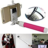 OKCSC 2015 Newest Universal Selfie Stick Monopod Tripod With Rearview Mirror Remote Shutter for Iphone6/6 Plus 5S 5C Samsung Android (green)