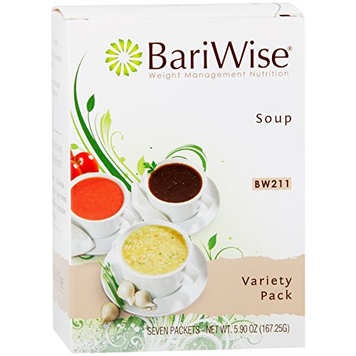 BariWise High Protein Low-Carb Diet Soup Mix - Low Calorie Variety Pack (7 Count)