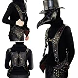 Mn&Sue Motorcycle Steampunk Women's Bag Knight Vest Packs Holster Gothic Waistcoat Side-Entry Pockets