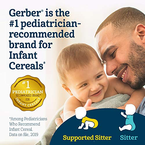 51ichy4Y83L - Gerber Baby Cereal Gerber Organic Oatmeal Cereal With Banana, 8 Ounces (Pack Of 6)