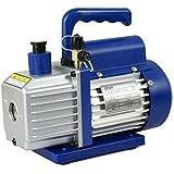 Zeny® 3,5CFM Single-Stage 5 Pa Rotary Vane Economy Vacuum Pump 3 CFM 1/4HP Air Conditioner Refrigerant HVAC Air tool R134A R410a, Blue