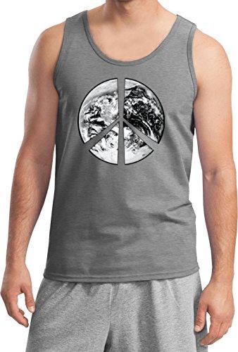 Peace Earth Tank Top, Sports Grey (Earth Tank)