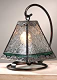 J Devlin Lam 559 Tiffany Mini Lamp Clear Vintage Sage Green Accent Night Light Memory Lamp