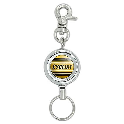 Ciclista siempre en dos ruedas cordón llavero Id Badge ...