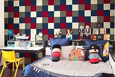 Cunguang Lattice Tapeten Fur Kinderzimmer Schlafzimmer Jungen Wande