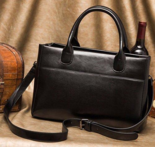 XZW Loisirs Main à Poignée Le Mode Rétro Sur BAG WOMEN'S Sacs Black à Dessus Loisirs Sac Sacs Petits Carrés FqwFRxr