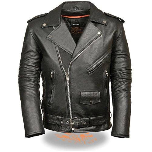Classic Leather Motorcycle Jacket - 7