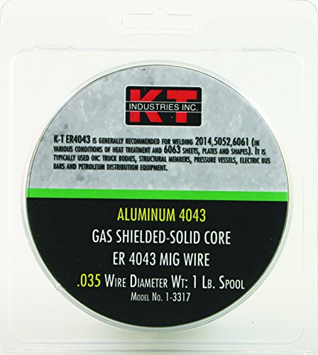 K-T Industries 1-3316 Aluminum 4043 030 Mig Wire, 1 lb