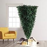 Treetopia Knocked Upside Down Artificial Christmas Tree, 7 Feet, Unlit