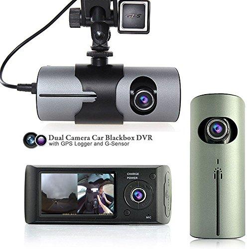 Indigi? Car Dual Lens Cam Night Logger G-Sensor Time Stamp