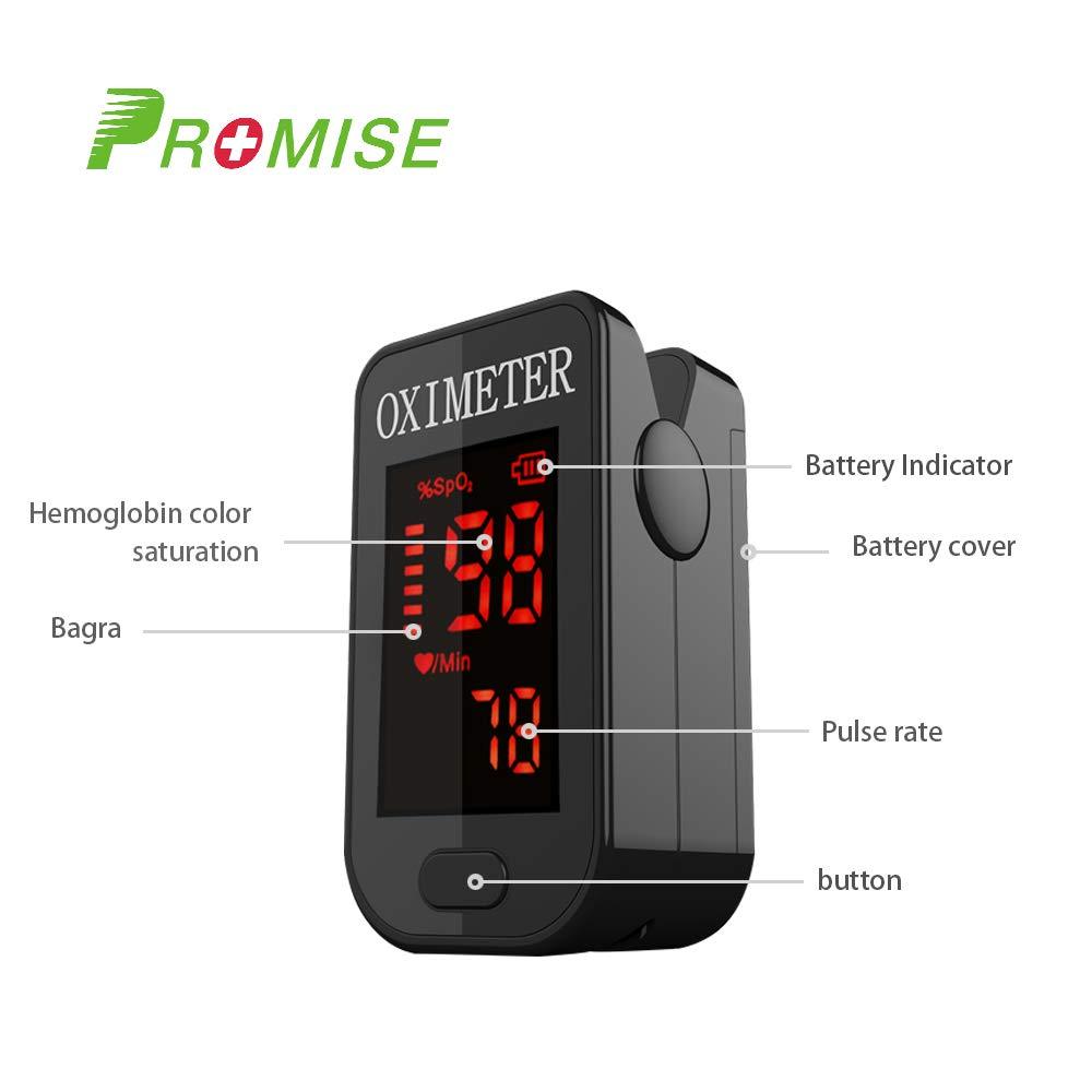 Oxímetro de sangre, Oxímetro de pulso para dedo - PRCMISEMED Pro Series F4 Oxímetro de pulso para dedo Oxímetro de oxígeno para sangre con cordón: ...