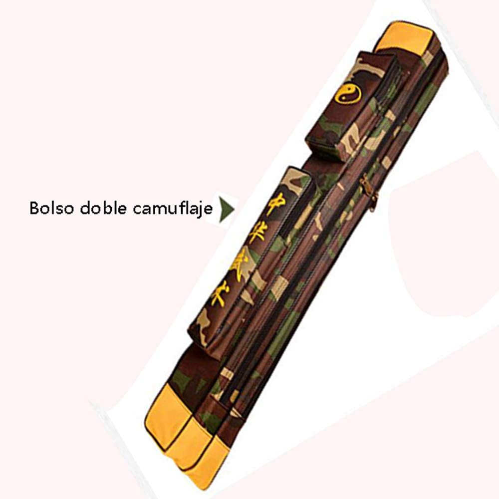 Bolsa para Llevar la Espada de Taichi - Bolsa para la Espada de Kung Fu Chino Estuche de una y Doble Capa Estuche de Armas de los Artes Marciales Bolso de la
