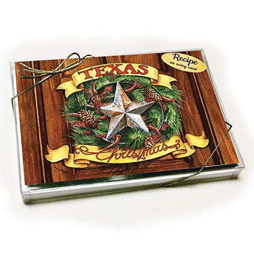 Texas Wreath Christmas Card with Recipe (Christmas Recipes Wreath)