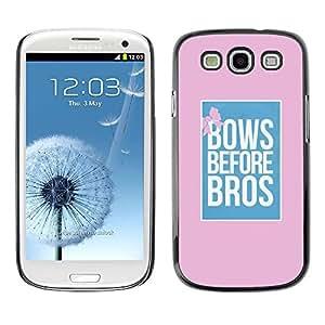 Se inclina ante cartel rosa Bros Rosa Azul - Metal de aluminio y de plástico duro Caja del teléfono - Negro - Samsung Galaxy S3