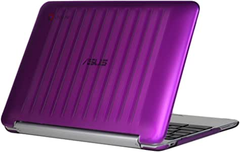 iPearl mCover Hard Shell Case for 10.1-inch ASUS Chromebook Flip C100PA Series Laptop (Purple)