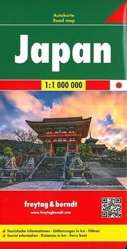 Japón, mapa de carreteras. Escala 1:1.000.000. Freytag & Berndt. (Auto karte) (Inglés) Mapa – Mapa doblado, 30 mar 2015 VV.AA. 3707913872 Gazetteers & Maps) Japan