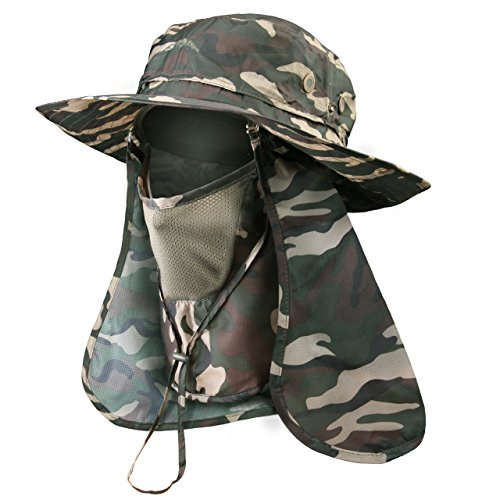 DIMPLES EXCEL Sun Hat - UPF 50 Protection, Summer Hat Wide Brim for Fishing, Walking, Hiking,Camping and Any Outdoor Activity, One Size (Camo)