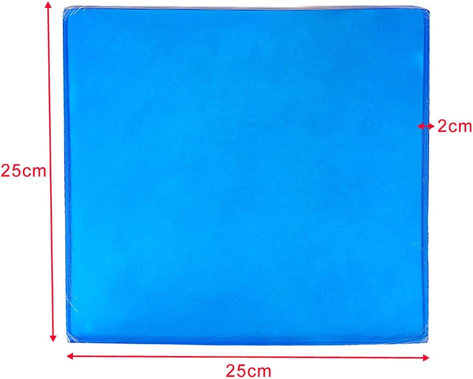 25 x 25 x 2cm Tgdays Motorcycle Seat Gel Pad Shock Absorption Mats Reduce Fatigue Comfortable Soft Cooling Fabric Cushion Blue Cool Passenger Soft Mat