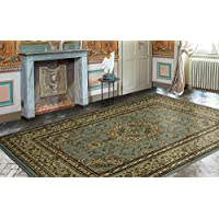 Ottomanson Royal Collection Traditional Oriental Medallion Design Area Rug, 7'10' X 9'10', Seafoam