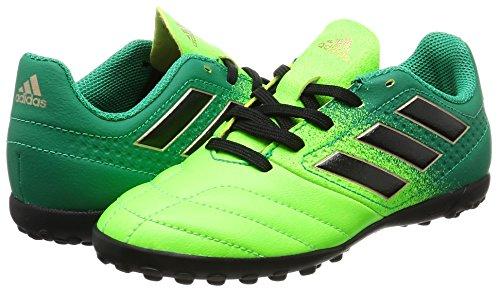 Adidas Ace 17.4 Tf J, Scarpe per Allenamento Calcio Unisex – Bambini, Verde (Versol/Negbas/Verbas), 38 EU