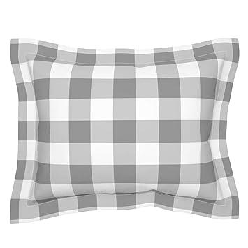 Amazon.com: roostery gris con brida funda de almohada gris ...
