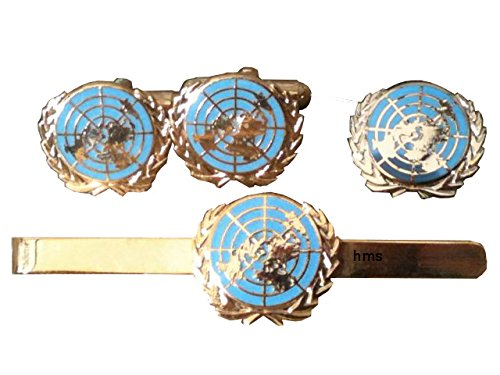 United Nations Tie Clip Blue