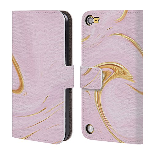 Official Martina Illustration Pink Marbles Leather Book Wallet Case Cover For Touch 5th Gen/Touch 6th Gen by Head Case Designs