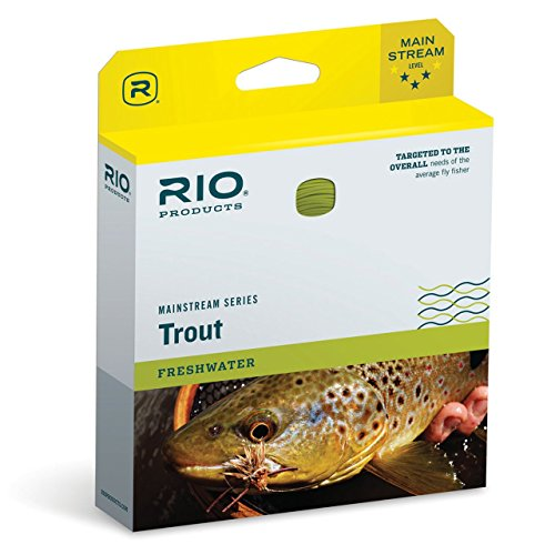 RIO Products Mainstream Trout Floating Fly Line with 3 Pack Leaders