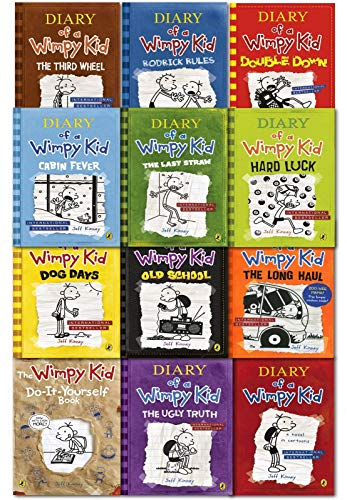 Diary Of A Wimpy Kid Collection 12 Books Set By Jeff Kinney