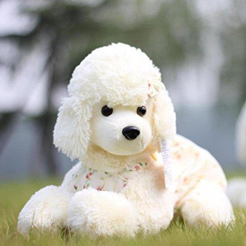 (WuKong White 17.6'' Stuffed Animals & Plush Toys Plush Poodle Dog Doll Plush Toys)