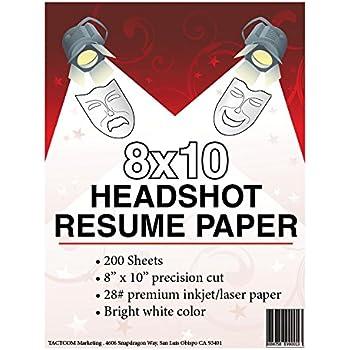 Nice 8 X 10 Headshot Resume Paper In 8x10 Resume Paper