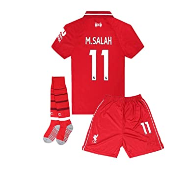 Image Unavailable. Image not available for. Color  2018-2019 Liverpool  11  M Salah Kids Youth Soccer Jersey   Shorts   aa3668256
