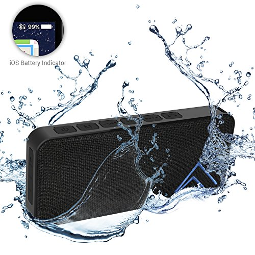 Bluetooth Speaker with 18-Hours Playtime, Best Wireless Waterproof IPX7 Portable Speaker, Loud Bass 10W Stereo Wireless Speaker, for Echo Dot MacBook, PC iPhone and Android Compatible, USB Rechargeabl (Highest Rated Portable Cd Players)