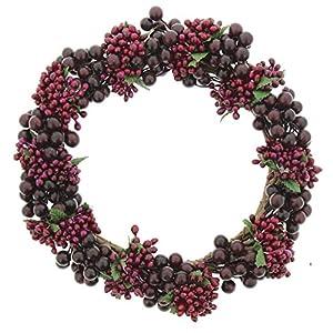 "Impressive Enterprises 10"" Purple Pip Berry Wreath 40"