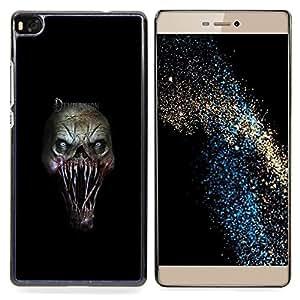 "Qstar Arte & diseño plástico duro Fundas Cover Cubre Hard Case Cover para Huawei Ascend P8 (Not for P8 Lite) (Evil Monster Gore"")"