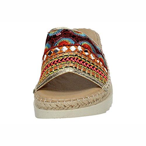 Multicolor Gris Yute Plano Mujer De Sandalia Refresh PYwFSAq