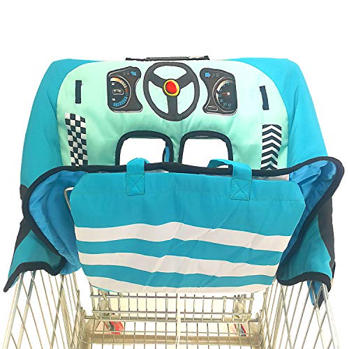 Extra Padded, Shopping Cart Cover and High Chair Cover for Baby,Provides Protection, Great Quality for Comfort by SLW (Blue) from Sweet Little Whispers